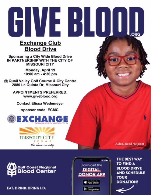 Exchange Club Blood Drive 198 April